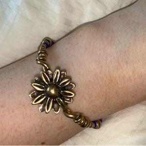NWOT Alex & Ani Vintage Sunflower Wrap Bracelet